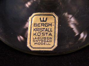Bergh guldbrun etikett